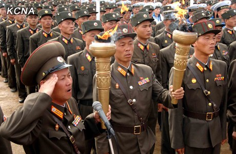 Torchlight Relay of Soldiers Starts