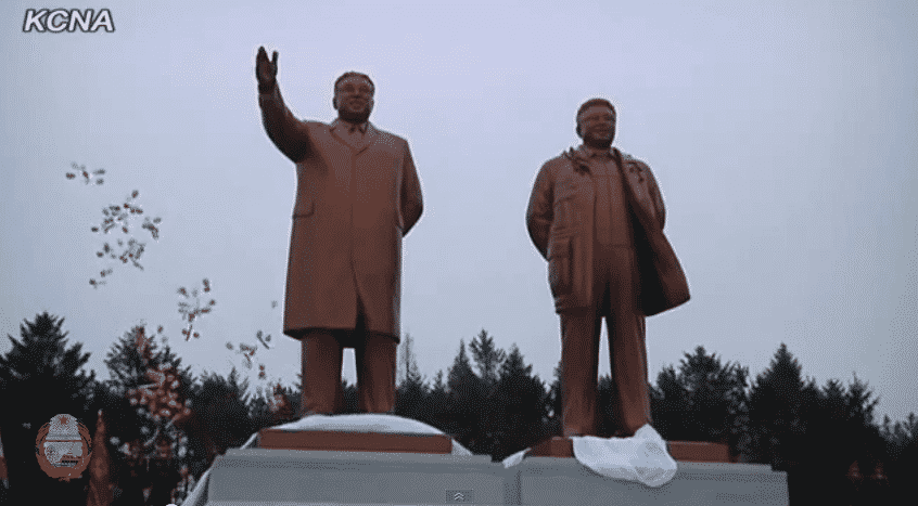 Statues of Kim Il Sung and Kim Jong Il Erected in Hamhung City