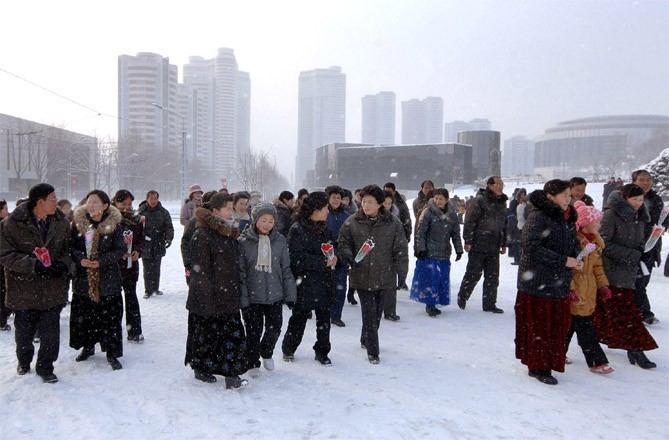 Korean people in the new year 2014