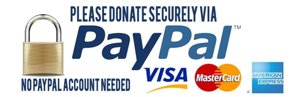 Donate via Paypal Today! - No Account Needed!