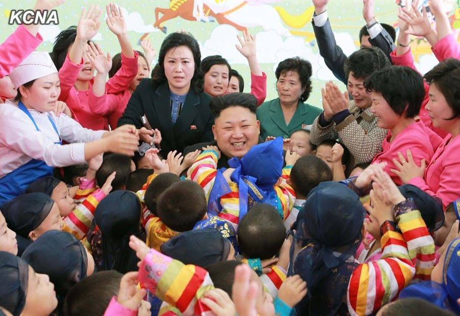 Kim Jong Un Visits Pyongyang Baby Home and Orphanage on New Year's Day